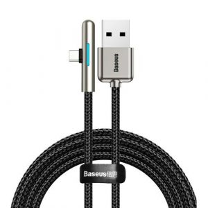 Baseus Iridescent Lamp HW Flash Charge Mobile Game USB for Type-C Date Cable 40W - Black