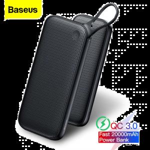 Baseus Powerful 20000mAh USB Type-C + Dual USB PD Flash Charging Quick Charge 3.0 Power Bank