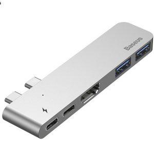 Baseus-Type-C-Thunderbolt-3-4K-HDMI-USB3-HUB-Adapter-For-MacBook-Pro-CAHUB-B0G