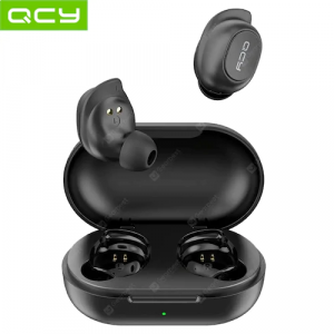 QCY T9S Bluetooth 5.0 Earbuds TWS Sports Running HD Stereo Noise isolation Earphones - Black