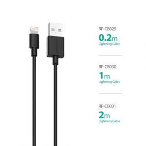 RAVPower / Lightning Cable / Charge & Sync 3.3ft 1m - Black