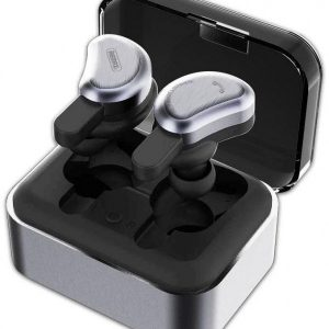 Remax TWS-1 Bluetooth Wireless 3D Mini Stereo Headset with Charging Socket - Black
