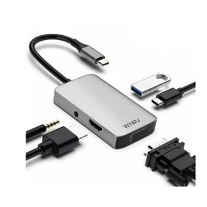 Wiwu-A513HVP-ALPHA-5-In-1-TYPE-C-TO-USB-3.0-VGAHDSTEREO-TYPE-C-Converter-Multifunctional-USB-HUB-Adapter