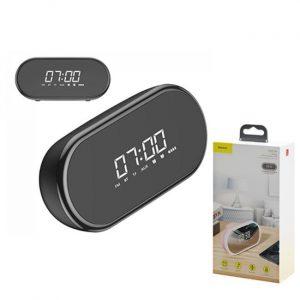 Baseus Encok E09 4 in 1 Wireless Heavy Bass Stereo Alarm Clock Bluetooth Speaker - Black