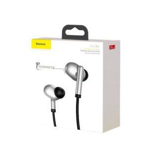 Baseus S30 Bluetooth Earphone 5.0 Bluetooth Wireless Headset - Silver