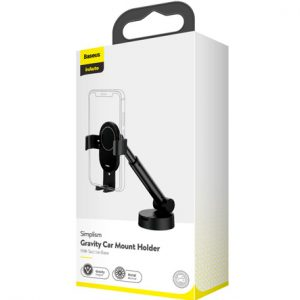 Baseus SUYL-JY01 Simplicity Gravity Car Mount Holder With Suction Base – Black