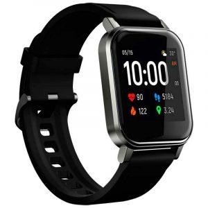 Haylou LS02 1.4 inch Large HD Screen Smart Watch Bluetooth 5.0 Long Standby Wristwatch Global Version - Black