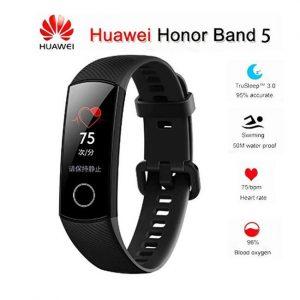 Huawei Honor Band 5 Global Version detection Smart Bracelet Health Monitoring Fitness Tracker Bracelet - Black