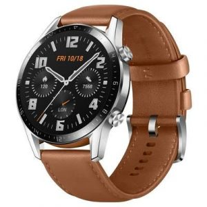 Huawei WATCH GT 2 46MM 1.39' AMOLED Full Touch Screen Wristband Bluetooth Call 14 Days Battery Life - Brown Strap