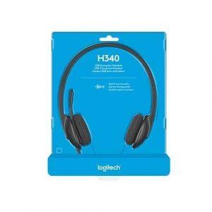 Logitech H340 USB Headphone -Black