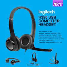 Logitech H390 USB Headphone -Black