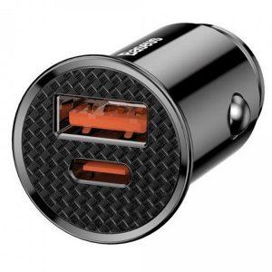 Original Baseus Circular Plastic A + C 30W PPS Car Charger Black – CCALL-YS01