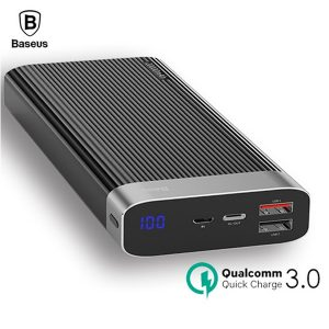 Original Baseus Parallel Power Bank 20000mAh 18W USB Type-C PD + Quick Charge 3.0 QC 3.0 Ports (PPALL-APX02) – 3 Months Warranty