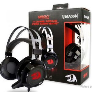 Redragon H301-USB SIREN-2 Gaming Headset 7.1 Channel Surround Stereo + Vibration, Sound & Vibration Controller On Wire, 40mm Driver, Extreme Bass