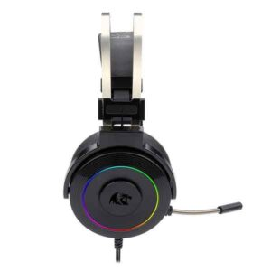 Redragon H320 LAMIA-2 USB Gaming Headset With RGB Lighting Virtual 7.1 Surround Sound 3D Sound Effect Sound Controller & Mute Button On Earcup 40mm Driver Extreme Bass