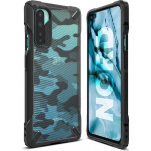 Ringke Fusion-X Case Designed for OnePlus Nord – Camo Black