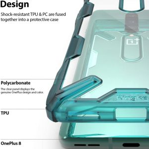 Ringke Fusion-X Case for OnePlus 8 – Turquoise Green