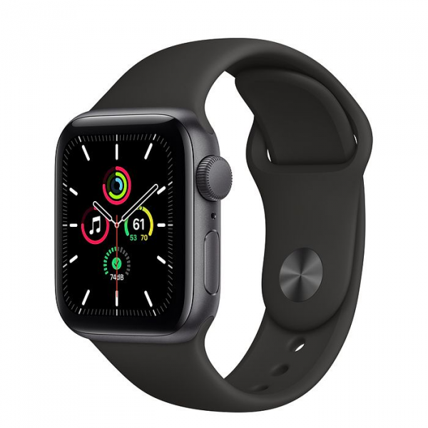 Apple Watch Series SE 40mm GPS Space Gray Aluminum Case with Black Sport Band
