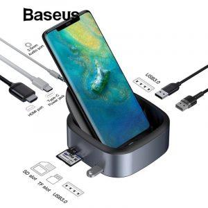 Baseus CAHUB-S0G Mate Docking Type-C Mobile Phone Intelligent HUB Expanded Socket