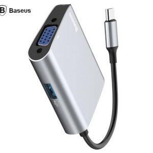 Baseus CATSX-E0G Enjoyment Series USB Type C 3.1 To USB 3.0 And VGA Video Connector Hub