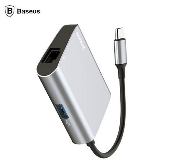 Baseus CATSX-B0G Enjoyment Series USB-C To RJ45 / USB 3.0 Converter Hub