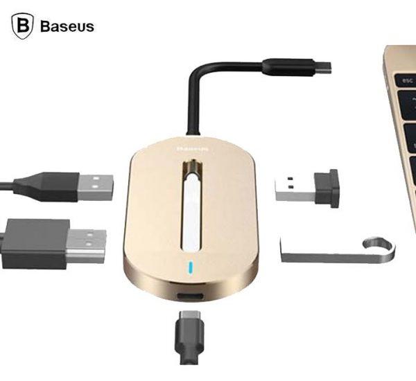 Baseus CABOOK-0V HUB O Type-C Multi-Function Ultra Silm Extension HUB 5 Ports Converter