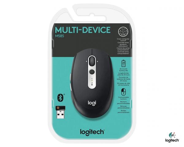 Logitech M585 Multi-Device Wireless Mouse - Black