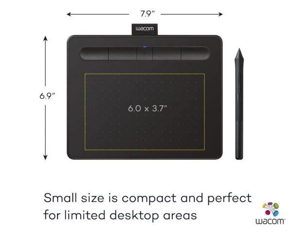 "Wacom Intuos CTL-4100WL Small Bluetooth Pen Tablet 6"" x 3.7"" - Black"