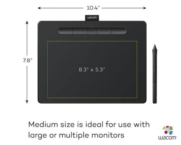 "Wacom Intuos CTL-6100WL Medium Bluetooth Pen Tablet 8.5"" x 5.3"" - Black"