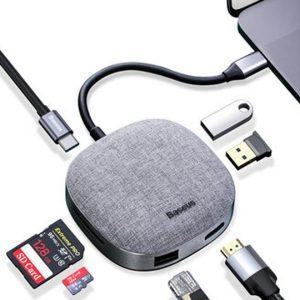 Baseus CAHUB-DX0G Cloth Fabric USB Type-C Hub Docking Station Adapter