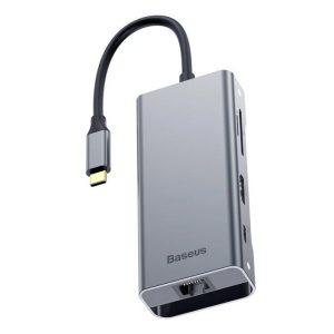 Baseus CATXF-0G Square Desk Type-C USB3.0+HDMI+RJ45/LAN Port/VGA HUB