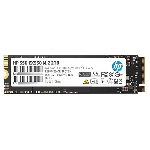 HP EX950 2TB SSD M.2 PCIe 3.1 x4 NVMe 3D TLC NAND Internal Solid State Drive
