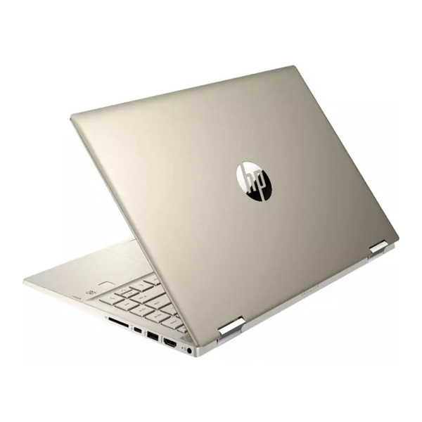 HP Pavilion x360 Laptop 14m DW1023dx Tiger Lake - 11th Gen Core i5 QuadCore 08GB 256GB SSD 14 Full HD IPS MicroEdge x360 Convertible Touchscreen B&O Play Backlit KB W10 FP Reader (Luminous Warm Gold)