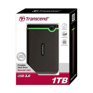 Transcend 1TB StoreJet 25M3 USB3.1 Slim Portable Hard Drive Shock-Resistant