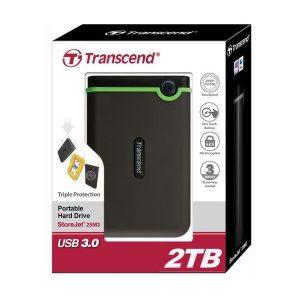 Transcend 2TB StoreJet 25M3 USB3.1 Slim Portable Hard Drive Shock-Resistant