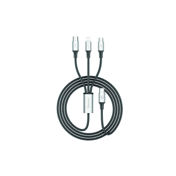 BASEUS RAPID SERIES 3-IN-1 CABLE CAMLTSU01 – 1.2M – BLACK