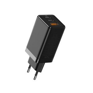 Baseus CCGAN2L-B01 65W USB-C / Type-C + USB Ports GaN Mini Fast Charge Charger