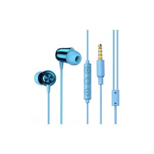 Baseus NGH13-03 3.5mm Plug Wired Eerphone With HD Microphone, Support For Call And Volume Adjustment - White/ Blue/ Green/ Pink