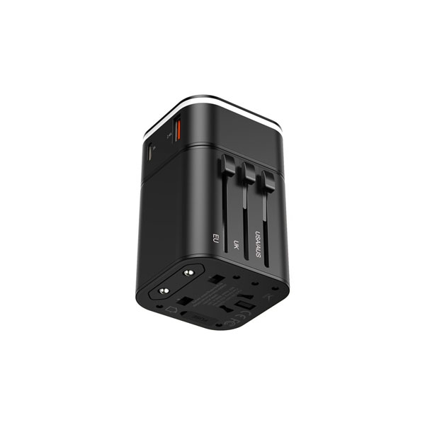 Baseus TZPPS – 01 PPS 2-In-1 Global Conversion Socket 18W Fast Charge Kit ( Type-C + USB Dual Port )