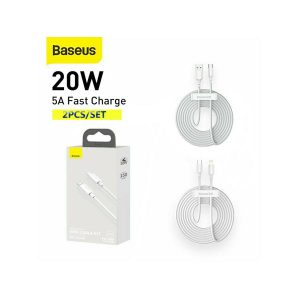 Baseus Type c to iPhone 20W Cable - 2Pcs Pack