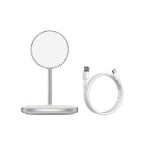 Baseus Wireless Charger Swan Magnetic Desktop Bracket For Iphone 12 Black/White