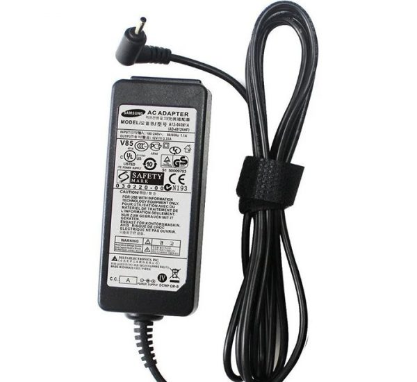 Samsung 40W 12V 3.33A 2.5*0.7mm Notebook Laptop AC Adapter Charger (Vendor Warranty)